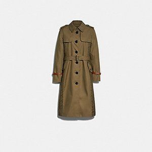 Coach Signature Panel Trench Coat NWT